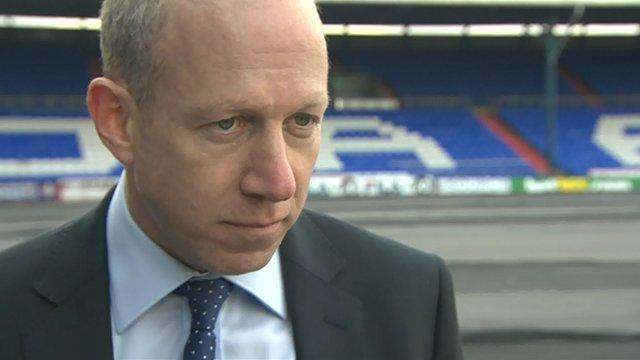 Oldham Athletic chairman Simon Corney