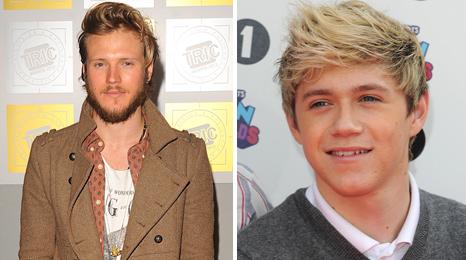 Dougie Poynter and Niall Horan