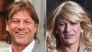 Sean Bean as himself and as 'Tracie' in Accused
