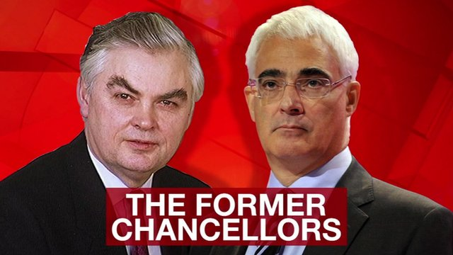 Norman Lamont and Alistair Darling MP