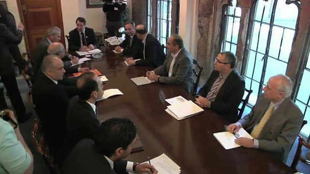 Cypriot leaders meeting in Nicosia
