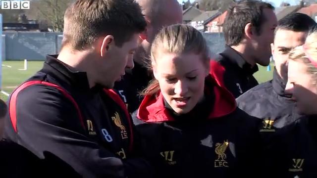 Liverpool Ladies train with men's team