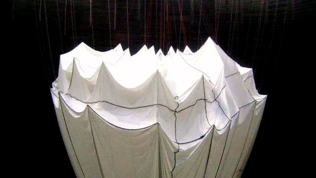 Christo's Big Air Package installation