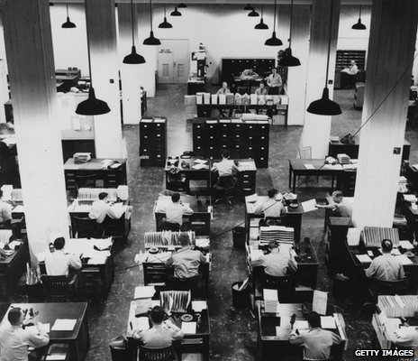 Rows of Pentagon filers