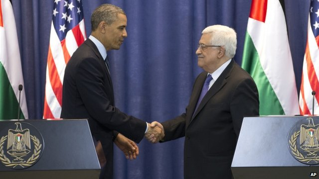 US President Barack Obama and Palestinian president Mahmoud Abbas