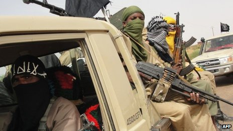 Ansar Dine fighters in Kidal - August 2012