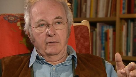 Philip Pullman spoke about the play, at his home in Oxford