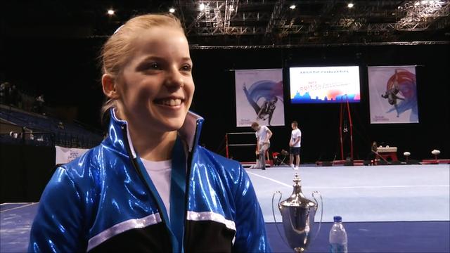 GB gymnast Gabby Jupp