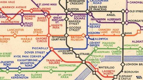1933 underground map