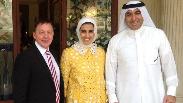 Forest manager Billy Davies meets owner Fawaz Al Hasawi's family
