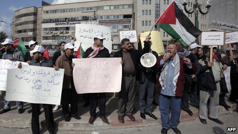 Protest against the Paris Protocol and the Oslo Agreement in Nablus (16 December 2012)