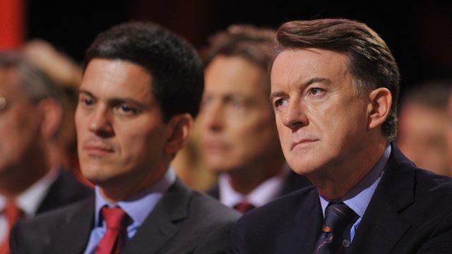 David Miliband, Peter Mandelson