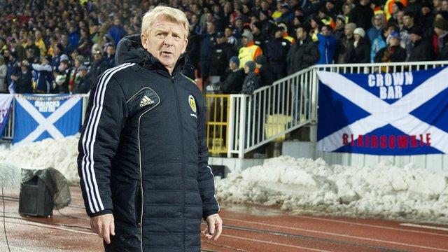 Scotland manager Gordon Strachan in Serbia