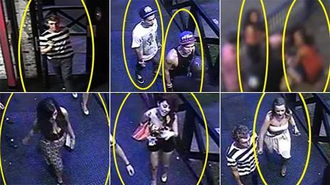 CCTV stills of potential witnesses