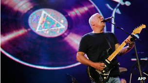 David Gilmour performing in 2005