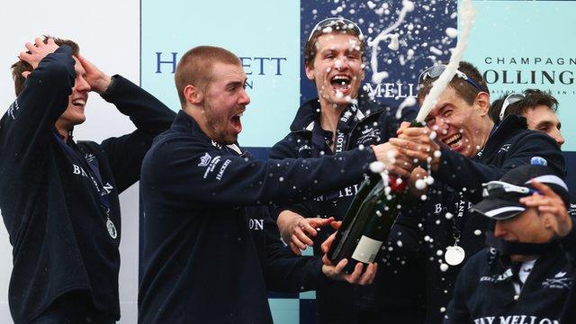 Oxford celebrate Boat Race win