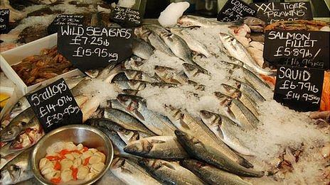 Fresh fish stall in UK - file pic