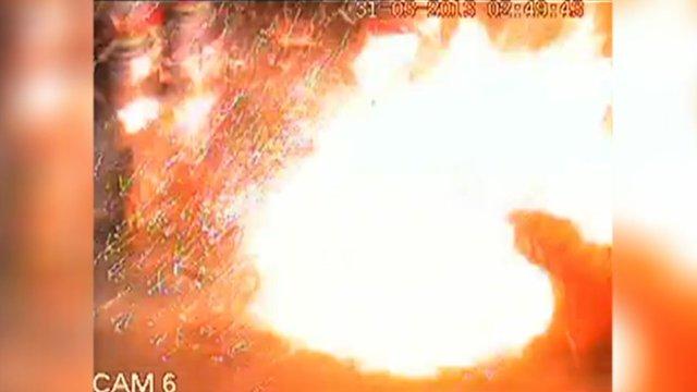 Explosion on petrol station forecourt