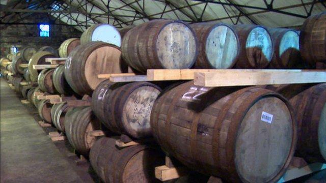 Barrels of whisky