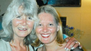 Author Jilly Cooper (l) and Joanne Gayford
