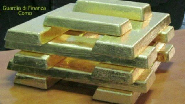 Stack of gold ingots