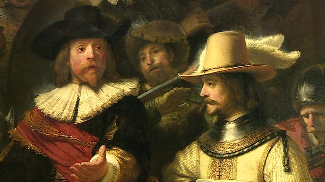 Rembrandt's The Night Watch detail