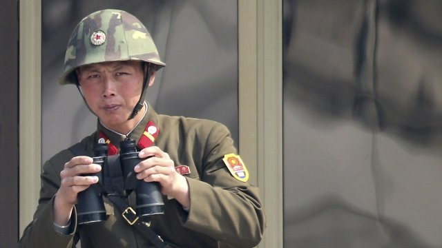A North Korean soldier