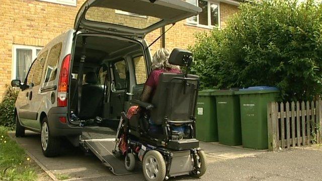 A wheelchair user
