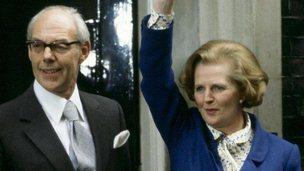 Margaret and Denis Thatcher