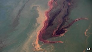 Oil slick in the Gulf of Mexico, June 2010