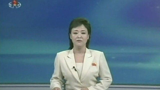 North Korea TV newsreader