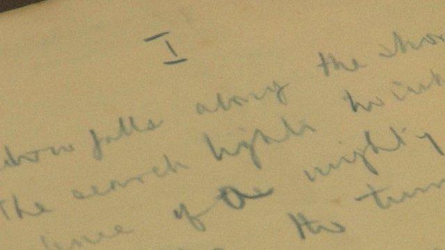 Handwritten poem by Winston Churchill