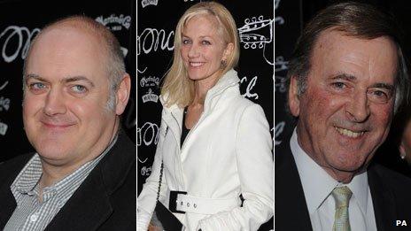 Dara O'Briain, Joely Richardson and Sir Terry Wogan