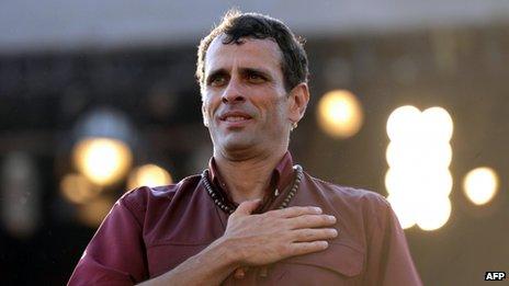 Capriles in Caracas, 7 April 2013