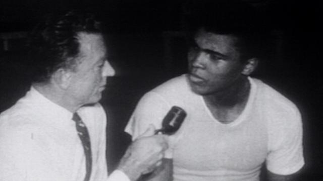 Muhammad Ali being interviewed