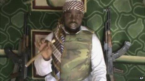 The leader of Boko Haram Abubakar Shekau