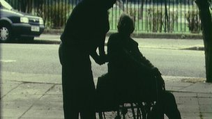 Old man in wheelchair