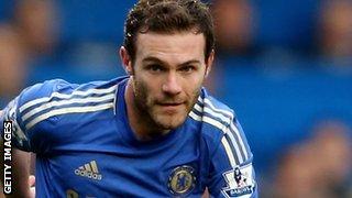 Chelsea forward Juan Mata