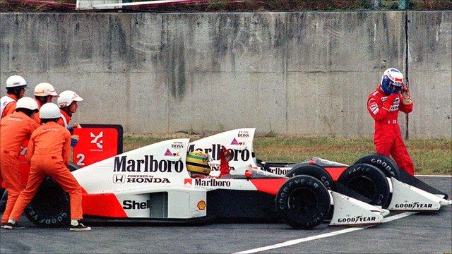Ayrton Senna and Alain Prost