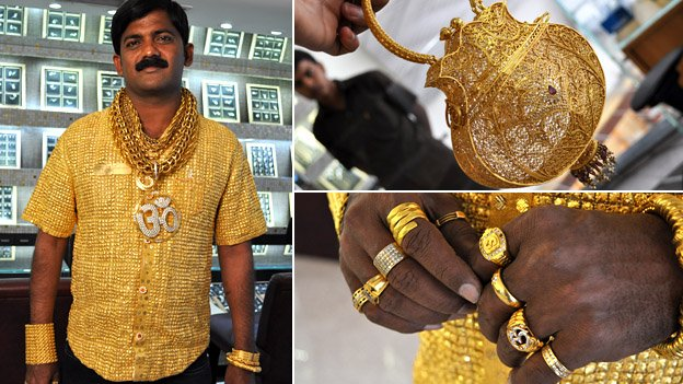 Shirt made of pure gold goes for $250,000: Indian man hopes it will help him get married (LOOK)