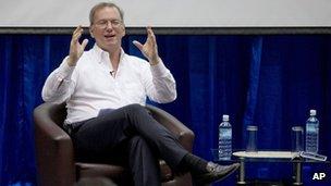 Google executive chairman Eric Schmidt on 22 March 2013