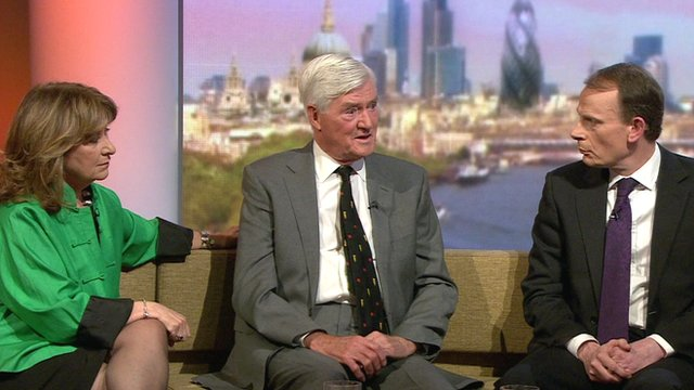 Baroness Helena Kennedy, Baron Cecil Parkinson and Andrew Marr