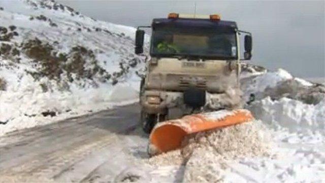 Snow plough on Monday