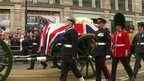 Gun carriage carrying coffin