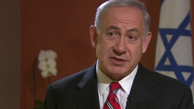 Benjamin Netanyahu in BBC interview. 17 April 2013