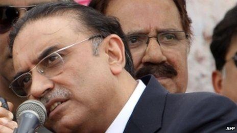 President Asif Zardari in March 2013