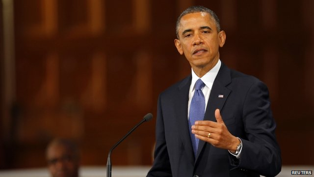 Obama addresses memorial service in Boston