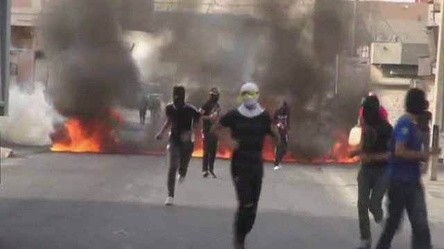 Protesters in Bahrain
