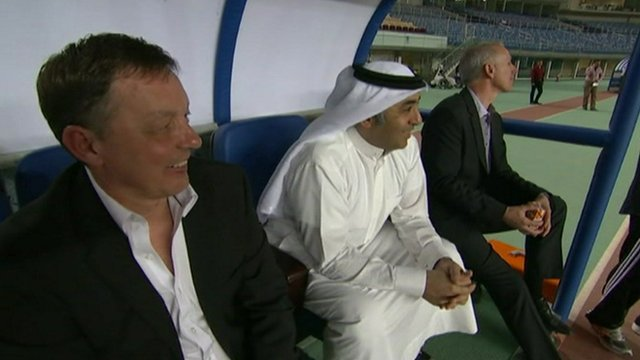 Fawaz Al Hasawi at football match