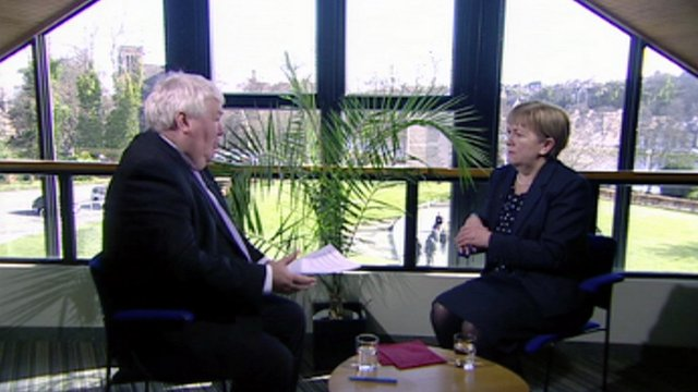 Brian Taylor and Johann Lamont
